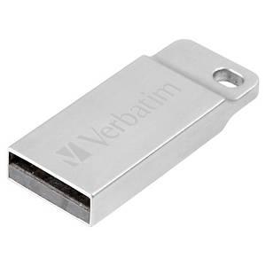 Clé USB Verbatim mini Métal Executive - USB 2.0 - 32 Go - argentée