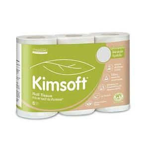 KIMSOFT กระดาษชำระม้วน 17.6 เมตร แพ็ค 6 ม้วน