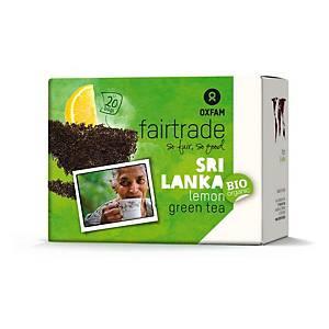 Oxfam thé vert et citron 2 grammes - paquet de 20