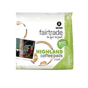 Oxfam Bio Highland dosettes de café - paquet de 16