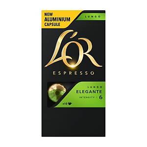 Kávové kapsuly L OR Espresso Lungo, 10 kapsúl