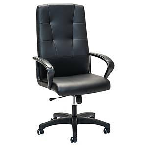 Prosedia 4306 bureaustoel met armleuningen, vinyl, zwart