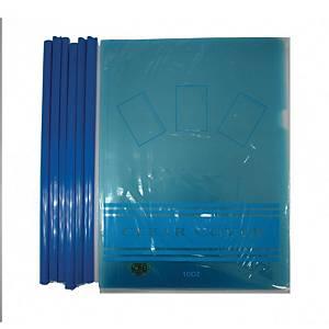 CBE Sliding Bar Folder A4 Blue - Pack of 12