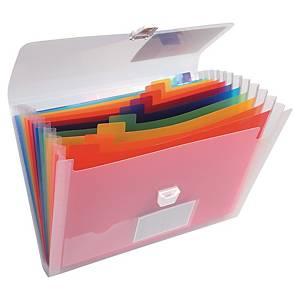 Exacompta sorteermap koffertje met 13 vakken, PP, per stuk