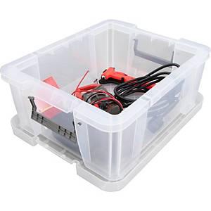 Boîte de rangement Allstore, 24 l, plastique transparent, la boîte