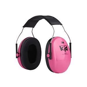 Casque antibruit 3M™ PELTOR™ Kid H510AK-442-RE avec serre-tête, rose néon