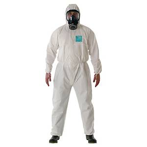 DISPOSABLE OVERALLS WHITE XXL=62/64