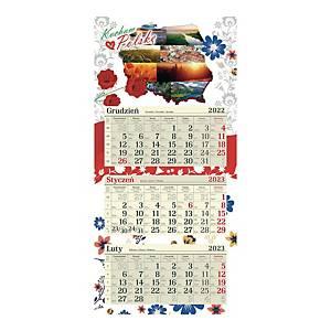 Kalendarz trójdzielny CRUX, płaski, krokusy