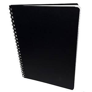 Muistikirja A4/80 viivoitettu musta