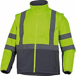 Warnschutzjacke 4-in-1 Deltaplus Tarmac, Regenfest, Gr. L, gelb
