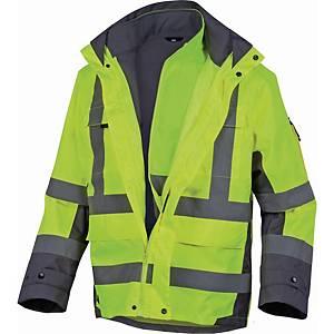 Warnschutzjacke 4-in-1 Deltaplus Tarmac, Regenfest, Gr. XL, gelb