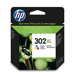HP inkoustová kazeta 302XL (F6U67AE), 3barevná C/M/Ž