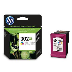 HP 302XL mustesuihkupatruuna 3-väri