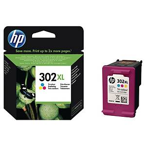 Cartouche d encre HP 302XL - F6U67AE - 3 couleurs