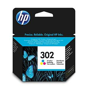 HP inkoustová kazeta 302 (F6U65AE), 3barevná C/M/Ž