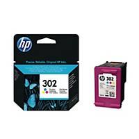 Tintenpatrone HP F6U65AE - 302, Reichweite: 190 Seiten, 3farbig