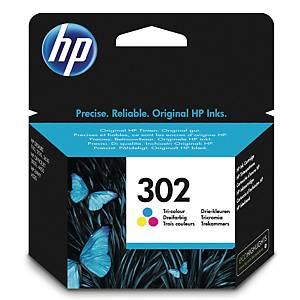 HP 302 Tri-Colour Original Ink Cartridge (F6U65AE)