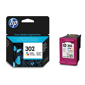 Cartuccia inkjet HP F6U65AE N.302 165 pag colori