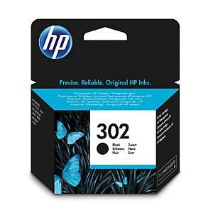 HP tintasugaras nyomtató patron 302 (F6U66AE) fekete