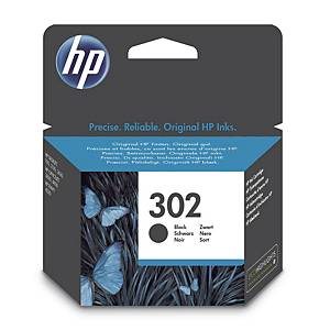 Bläckpatron HP 302 F6U66A, 190 sidor, svart