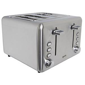 Stainless Steel 4 Slice Wide Slot Toaster
