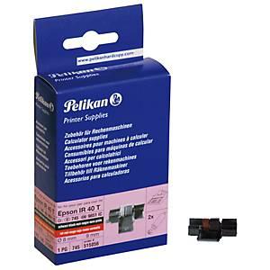 Farbrolle Pelikan 515056, Gr.745 schwarz/rot, 2 Stück