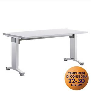 Scrivania Variant Meco Office linea Wood L 160 x P 80 cm bianco