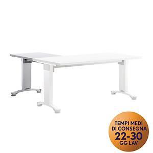 Allungo per scrivania Variant Meco Office linea Wood L 80 x P 60 cm bianco