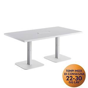 Tavolo riunione MecoOffice linea Arredo L180 x P100 x H74 cm bianco