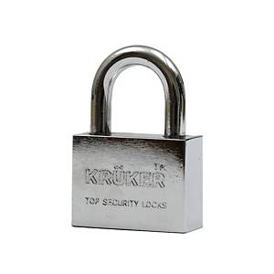 KRUKER PADLOCK CHROMIUM SHORT LOOP 40MM