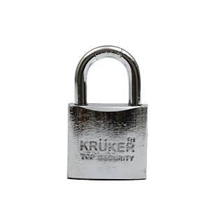 KRUKER กุญแจแขวนระบบสปริงโครเมี่ยม คอสั้น 32มม.