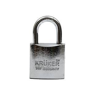 KRUKER กุญแจแขวนระบบสปริงโครเมี่ยม คอสั้น 38มม.