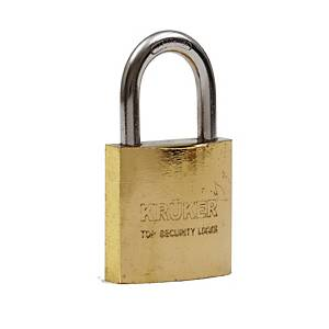 KRUKER SPRING PADLOCK GOLD SHORT LOOP 38MM