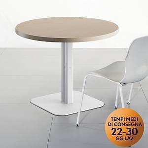 Tavolo riunione rotondo Meco Office linea Arredo Ø 100 x H 74 rovere / bianco