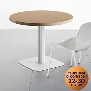 Tavolo riunione rotondo Meco Office linea Arredo Ø 100 x H 74 noce / bianco