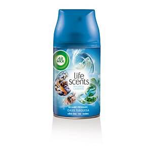 Recambio para ambientador Air Wick Freshmatic - 250 ml - aroma Oasis turquesa