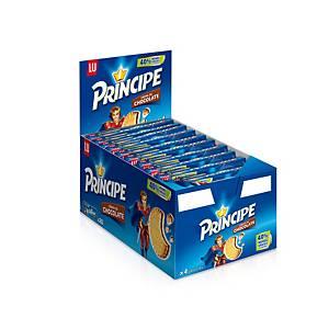 Caja de 20 paquetes de galletas con chocolate Príncipe - 80 g