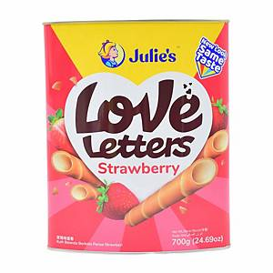Julie s Love Letters Strawberry Biscuits 700g