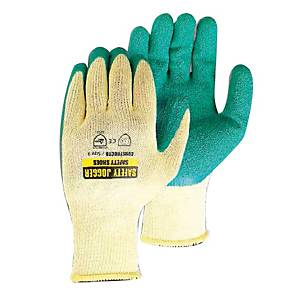 SAFETY JOGGER CONSTRUCTO GLOVES COTTON LATEX PAIR M/8 GREEN