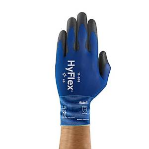 Pair Ansell Hyflex® 11-618 PU Blue - size 9 - pack of 12 pairs