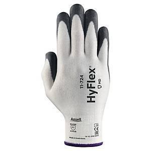 Schnittschutzhandschuhe Ansell HyFlex 11-724, Gr.9, weiss/grau