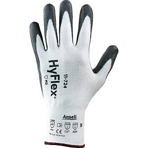 PAIR ANSELL HYFLEX 11-724 GLOVE WH/GRY 9