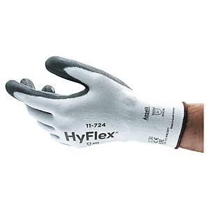 PAIR ANSELL HYFLEX 11-724 GLOVE WH/GR 10