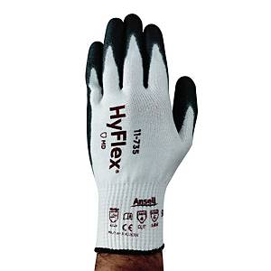 Gants anti-coupures Ansell Hyflex 11-735, enduction PU, taille 9, 12 paires