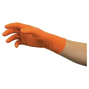 Rękawice ANSELL Microflex® 93-856, pomarańczowe, rozmiar 9,5-10, 100 sztuk