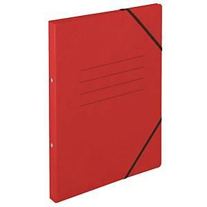 Ringbuch Biella Top Color, A4, 2-Ring, mit Gummiband, 2,5 cm Rücken, rot