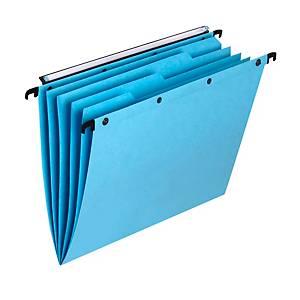 Hängemappe Elba L Oblique AZO A4, mit 4 Registertabs, blau, Packung à 5 Stück