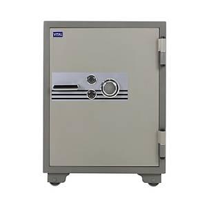 VITAL ตู้เซฟป้องกันไฟ VT-100SKK รหัสหมุน สีเทา