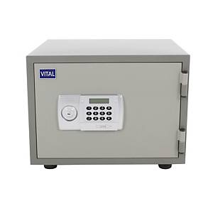 VITAL ตู้เซฟป้องกันไฟ VT-21D รหัสกดอิเล็กทรอนิกส์ สีเทา