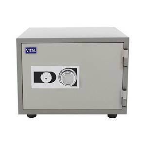 VITAL ตู้เซฟป้องกันไฟ VT-21S รหัสหมุน สีเทา